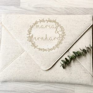 Leinen_Clutch_Your_logo