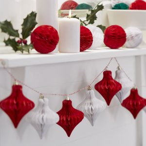 Bauble-Honeycomb-Garland