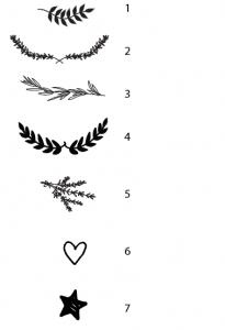 Embleme Leinenbuch